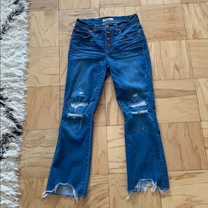 Madewell cropped flare jeans